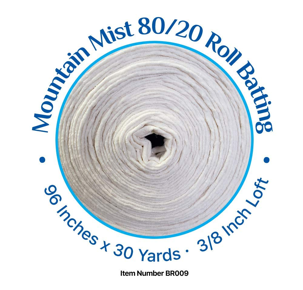 80//20 Cotton Polyester Blend Batting 96 Inches by 30 Yards