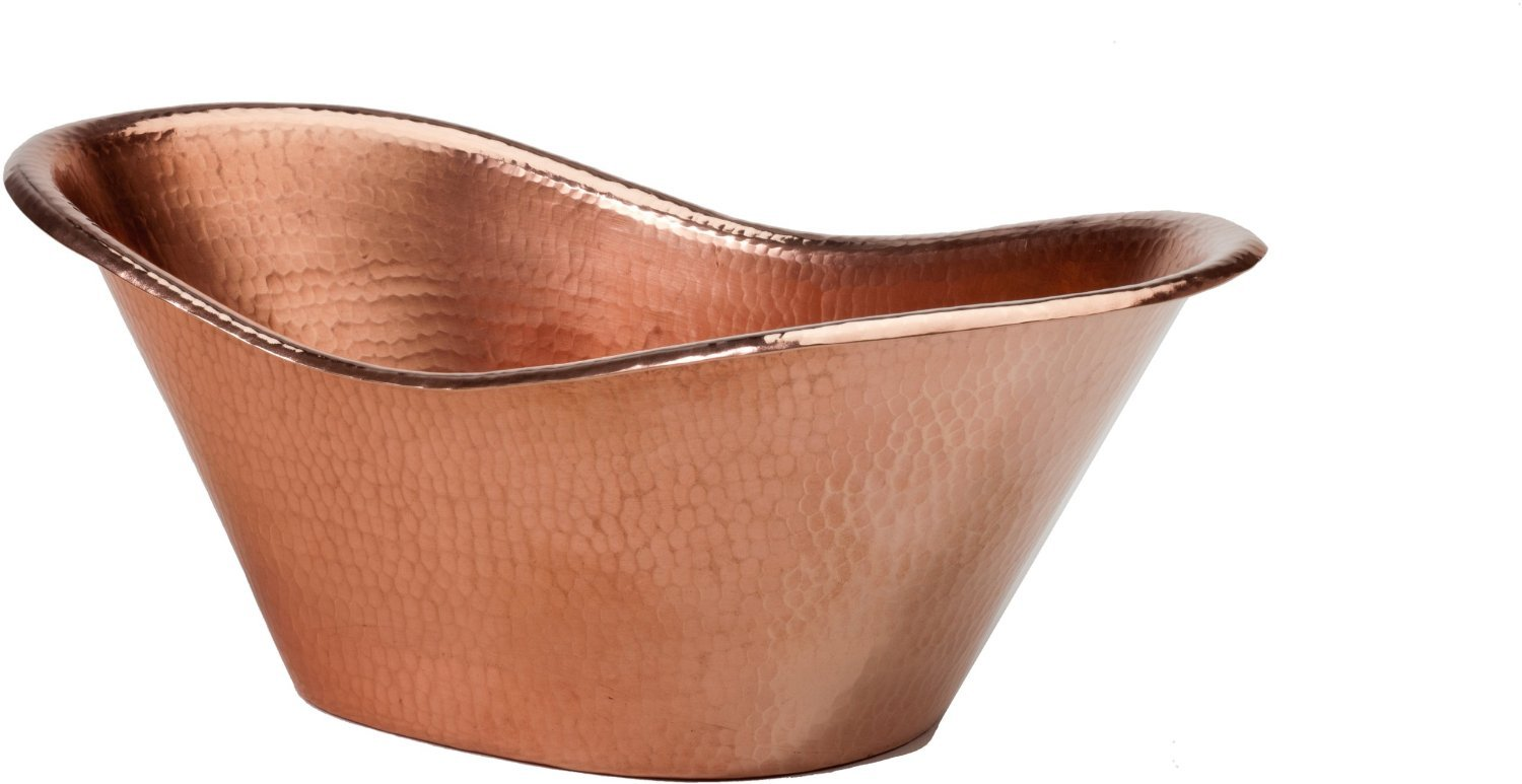 Sertodo Copper, Hand Hammered Pure Copper, Nile Cradle Champagne Ice Bucket, Beverage Bucket, 16'' x 7'' by Sertodo Copper (Image #1)