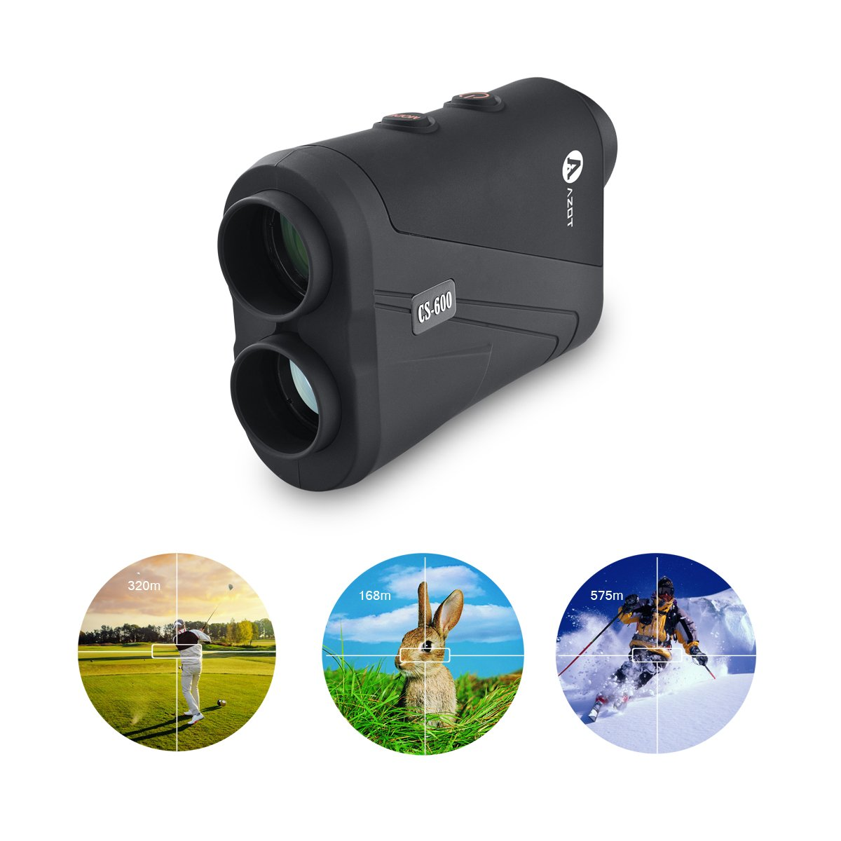 AZOT CS-600 Golf rangefinder Laser Range Finder with waterproof function Measure ranging and speed Free Battery by AZOT (Image #7)