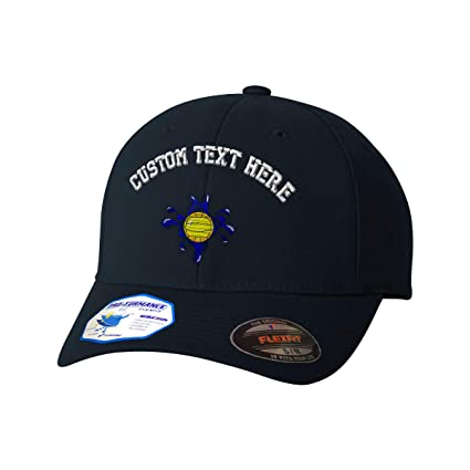 dc45d7b20d73b Amazon.com  Custom Text Embroidered Water Polo Sports  2 Flexfit Hat  Baseball Cap Black  Clothing