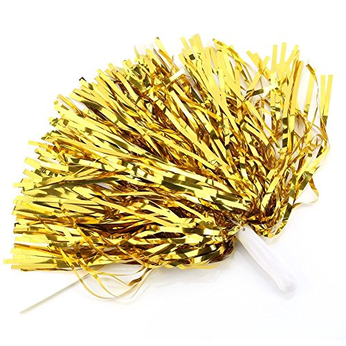 Xuanang Cheerleader Cheerleading Pom Poms Party Costume Accessory Set Ball Dance Fancy Dress Night Party Sports Pompoms Cheer 1pair (Dance Baton Costumes)