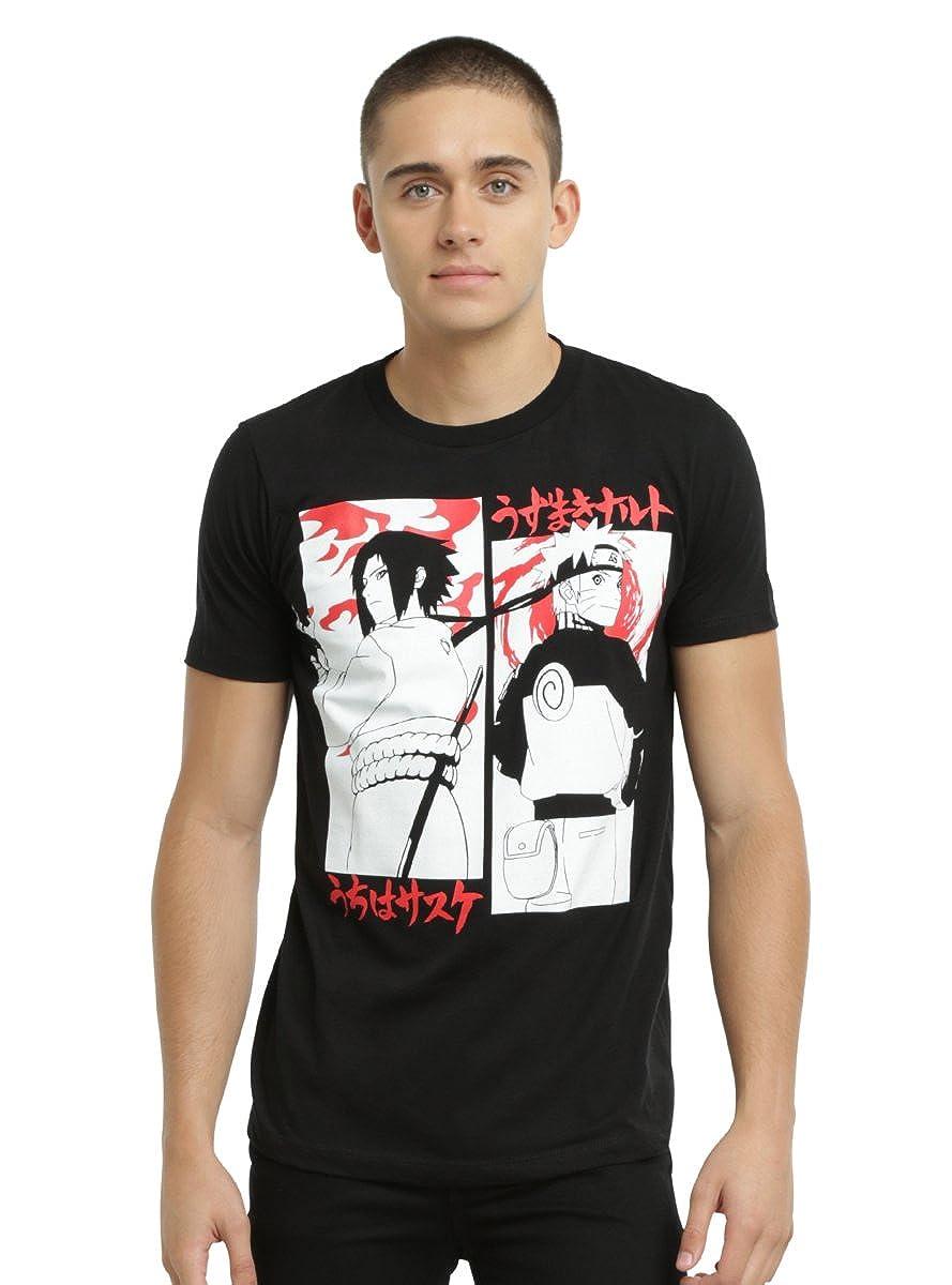 ab2405d37 Amazon.com: Hot Topic Naruto Shippuden Naruto Vs. Sasuke T-Shirt: Clothing