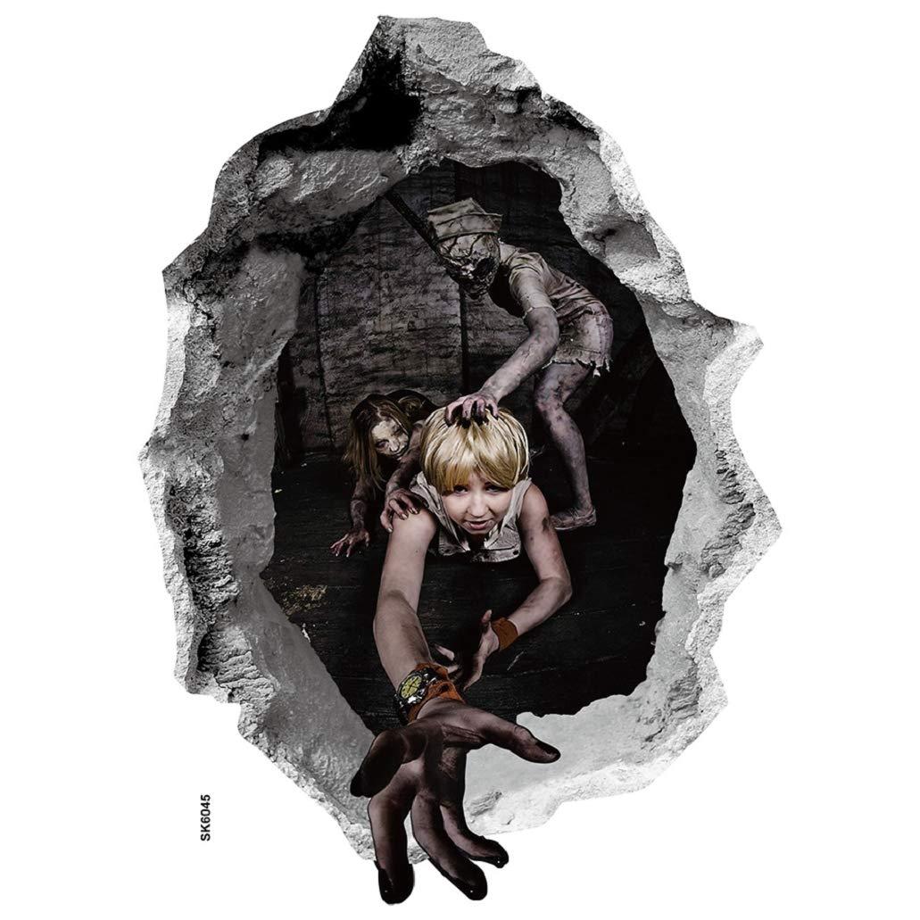 heekpek Halloween 3D Adesivi da Parete Fantasma Horror Rimovibili Decalcomanie da Muro Decorazione Domestica Adesivi Horror per la Decorazione (A) heekpekYMM31081802B