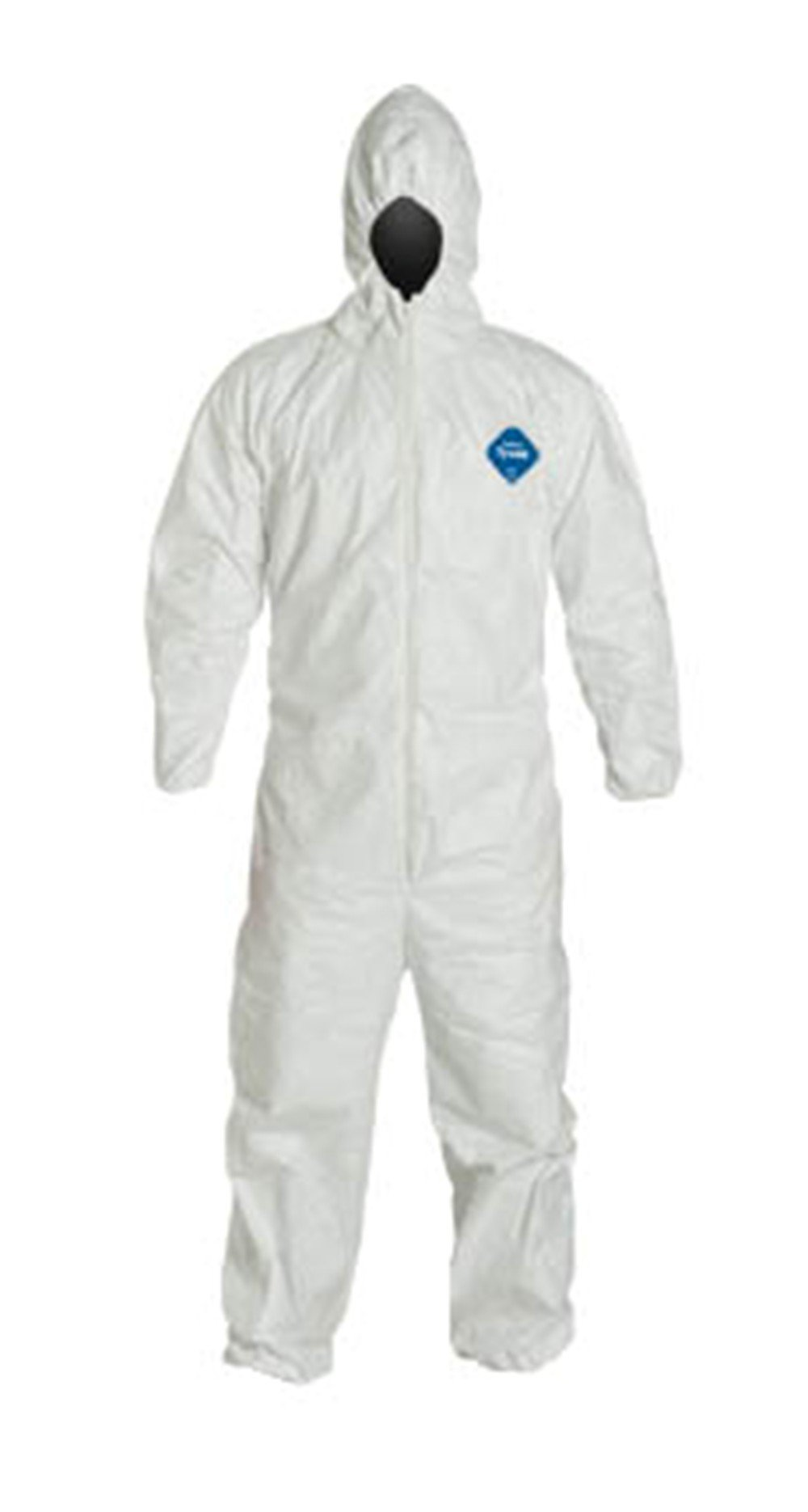 XL Tyvek Coverall W/ Hood, Zipper, Elastic Wrist & Ankle (XL-5 Suits) TY127S WH - XL - 5