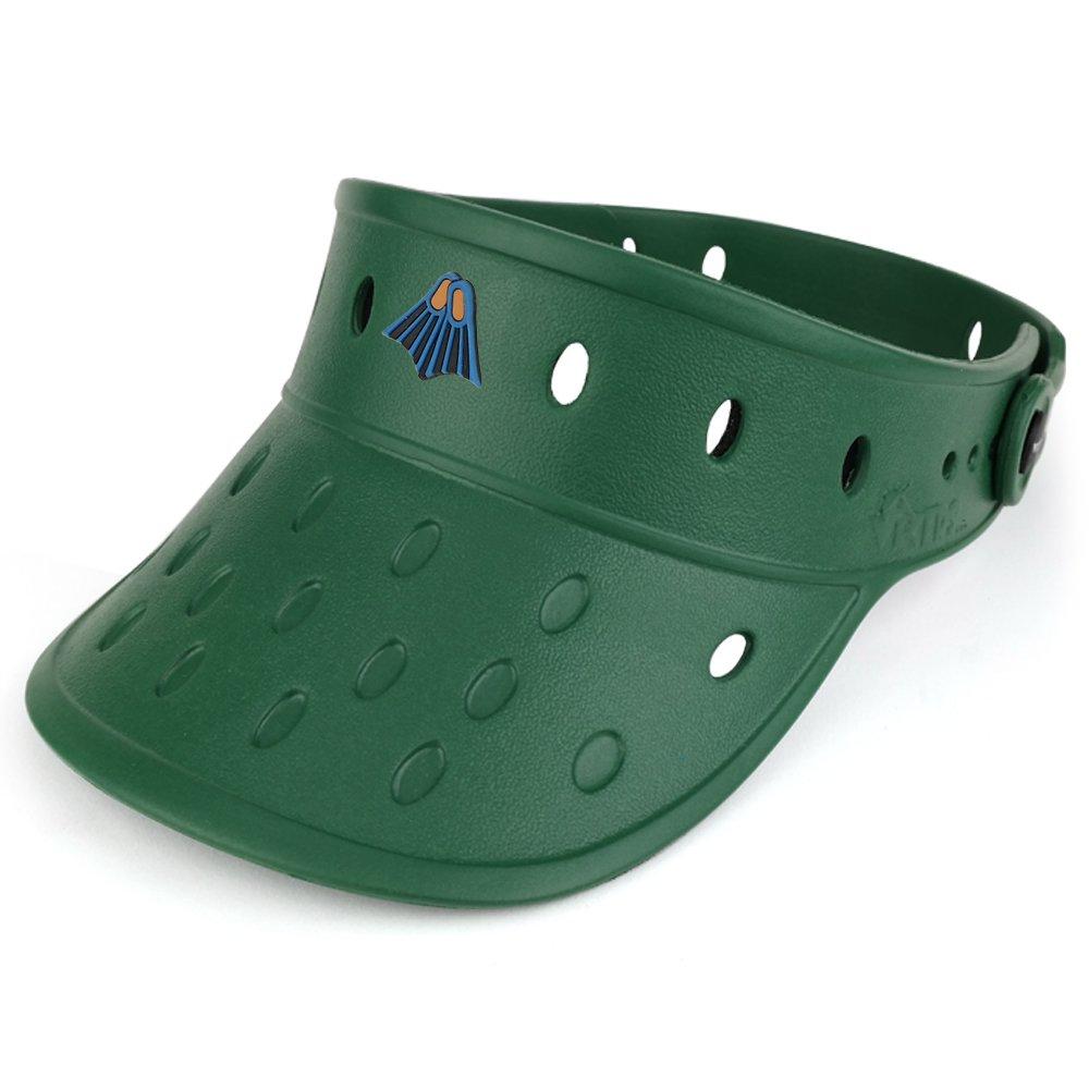 Trendy Apparel Shop Durable Adjustable Floatable Foam Visor Hat With Flipper Snap Charm