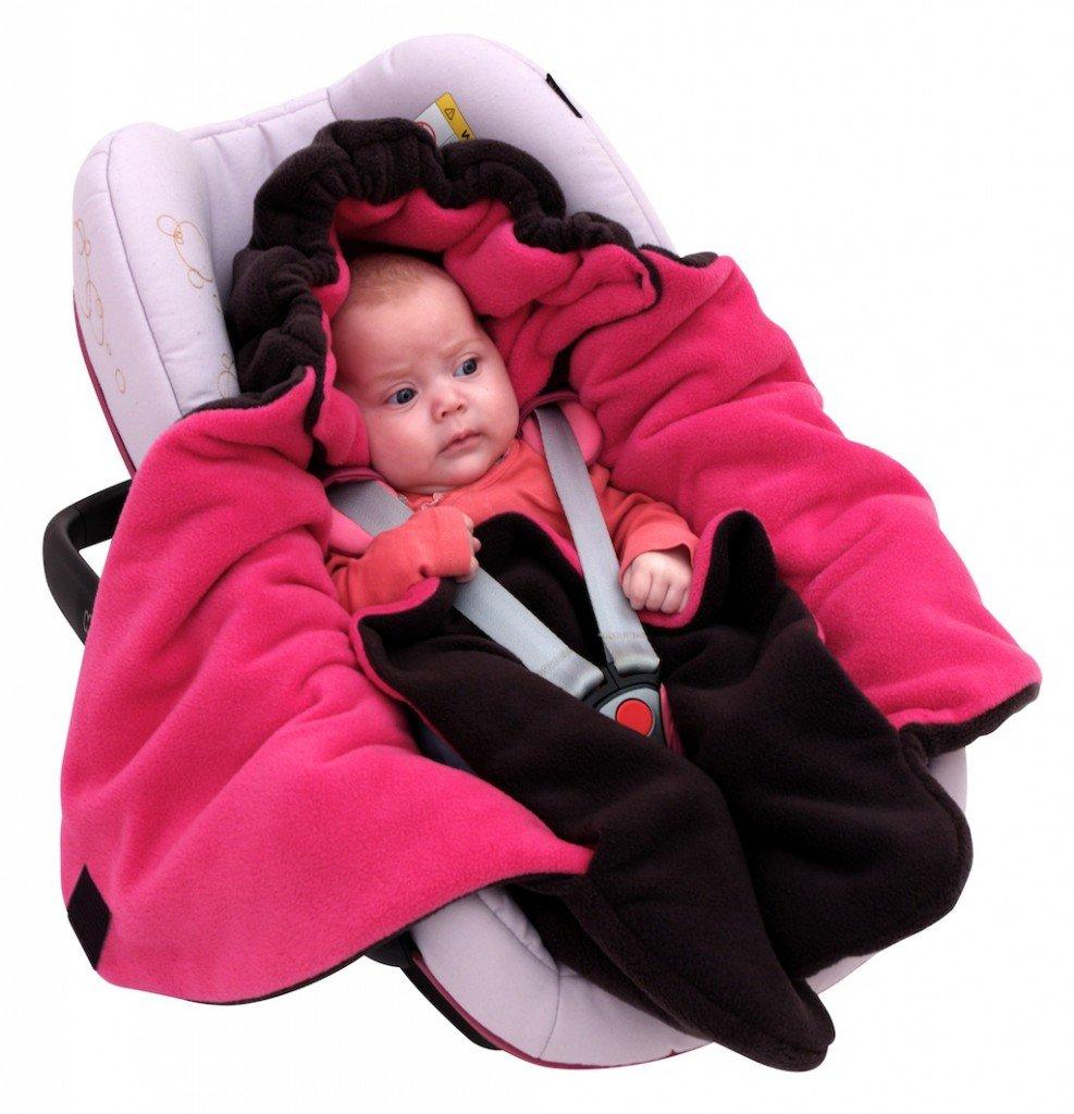 f/ür Kinderwagen Buggy oder Babybett R/ömer f/ür Maxi-Cosi z.B Baby Winter-Einschlagdecke Das Original mit dem B/ären ByBoom Farbe:Beige Universal f/ür Babyschale Autositz