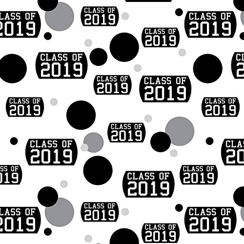 Premium Gift Wrap Wrapping Paper Roll Pattern - Graduation Graduating Class of - 2019 Graduation