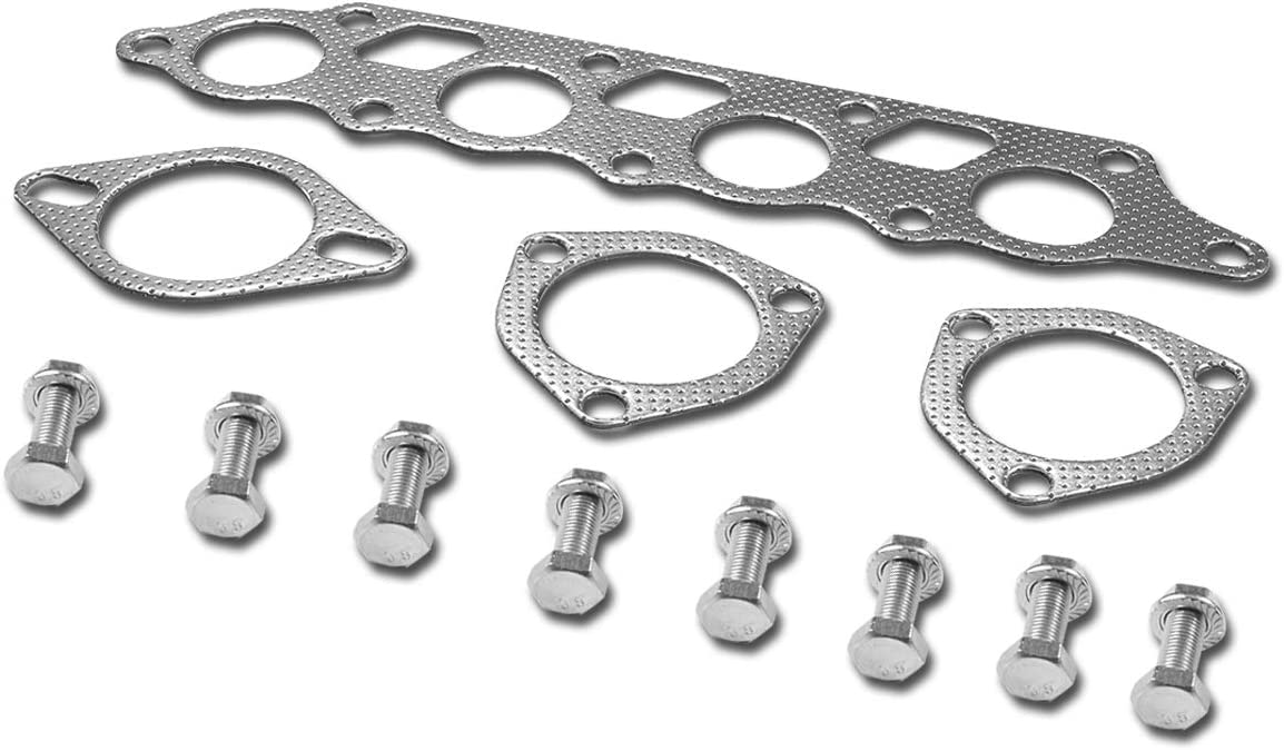 Aluminum Exhaust Manifold Header Gasket Set for 00-04 Ford Focus Zetec ZX3//ZX5