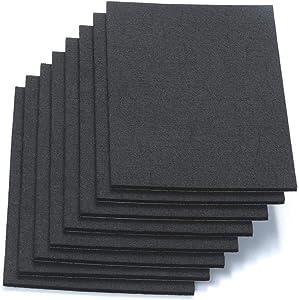 "RERIVER 6"" X 8"" X 1/5"" Thick Heavy Duty Felt Sheets - 8 Sheets (Black)"