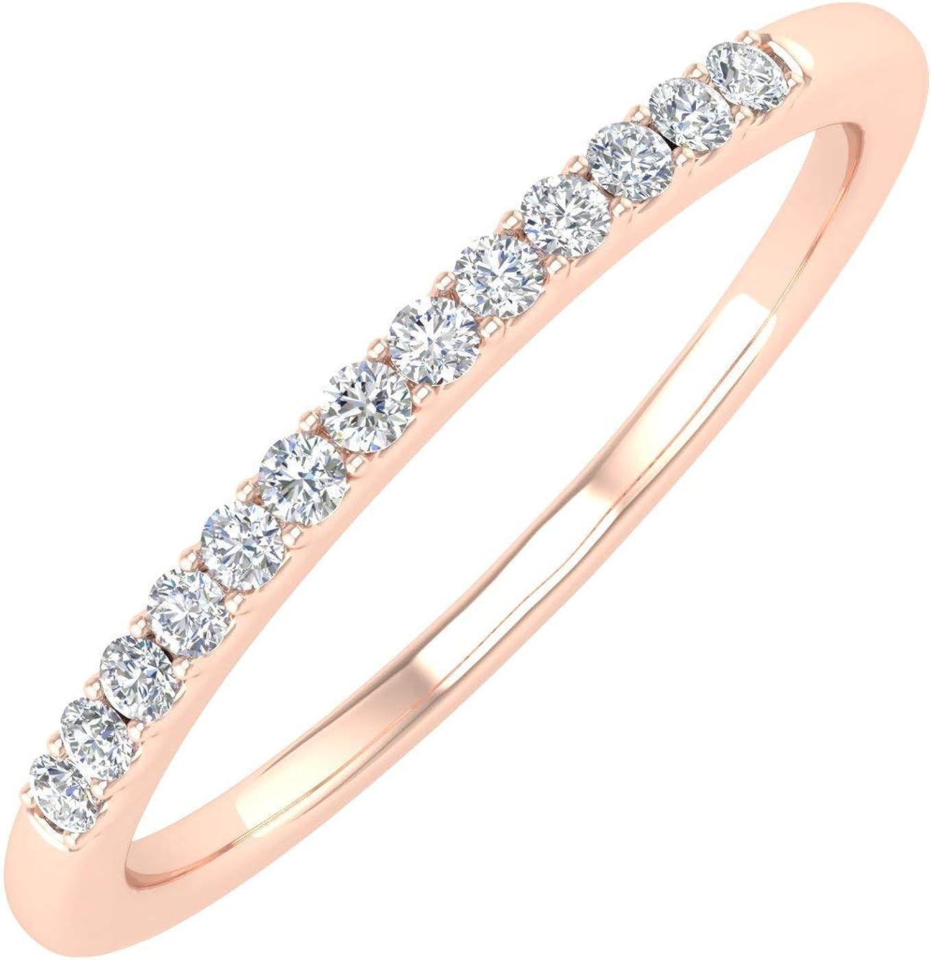 1/10 Carat Diamond Anniversary Ring Band in 10K Gold