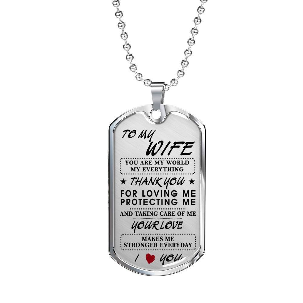 My Everything AZ Gift Excellent Gifts Wife Husband Necklace Chain Inspirational Birthday Gifts For Her On Xmas You Are My World Valentine/…