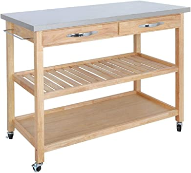 Amazon Com Hardwood Kitchen Island Kitchenware Supplies