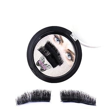 159d717f9fa Amazon.com : ROMANTIC BEAR Magnetic False Eyelashes, Professional Long and  Thick Artificial False Eyelashes (2 Pairs 4 Pcs) : Beauty