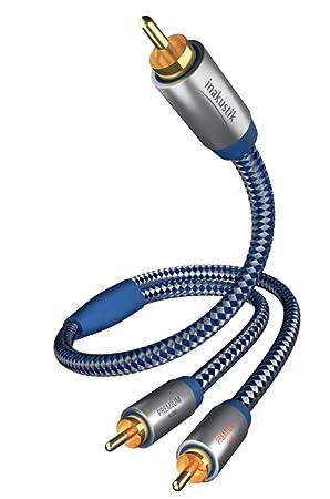 Inakustik Premium - Cable de audio y subwoofer (1 conector RCA, 2 conectores RCA, 3 m): Amazon.es: Electrónica