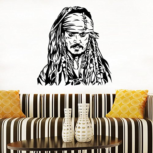 Pirates Of The Caribbean Animated (Captain Jack Sparrow Mural Fan Decals Children's Decorative Stickers Pirates Of The Caribbean Vinyl Posters Interior Art Designs (3jksw) / Shipping from USA by Kellysdesigns /)