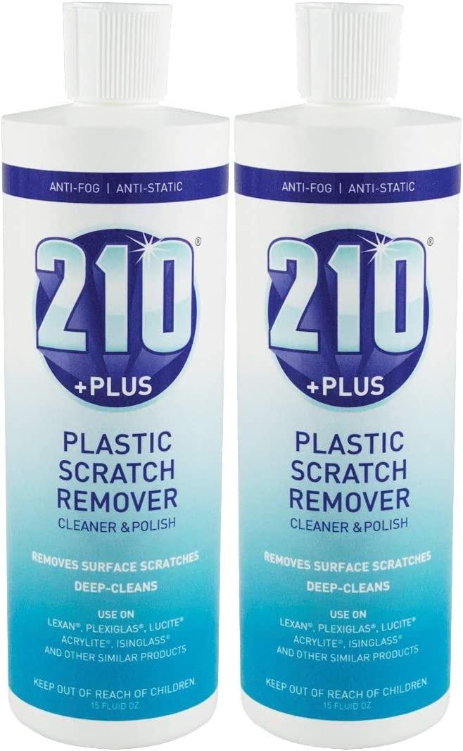 Sumner Laboratories 23305-2PK 210 Plus Plastic Scratch Remover Cleaner and Polish, 2 Pack