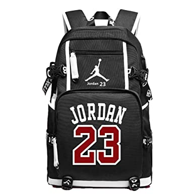 5b43e372636e YOURNELO Basketball Player Rucksack School Backpack Bookbag (C Jordan Black)