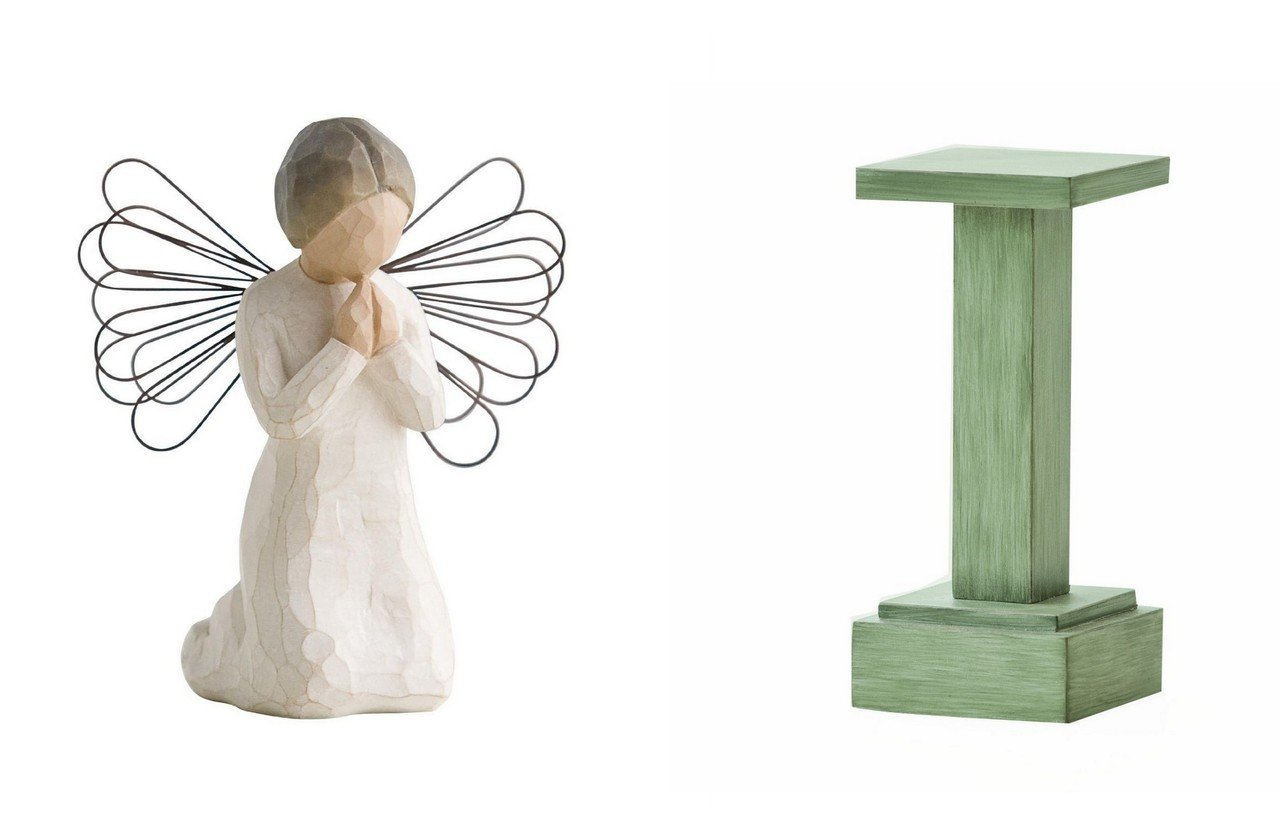 Willow Tree Angel of Prayer and Nativity Stand 26012 26107