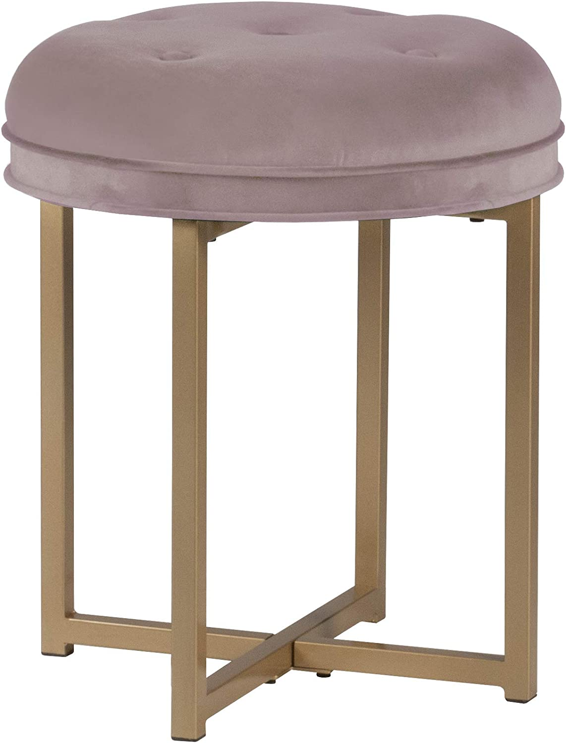 Hillsdale Furniture Vanity Stool, Blush Pink
