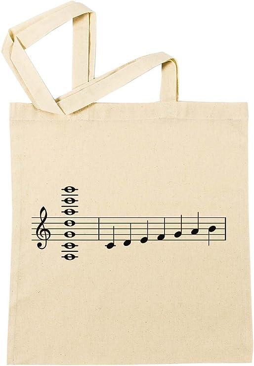Musical Notas Bolsa De Compras Playa De Algodón Reutilizable ...