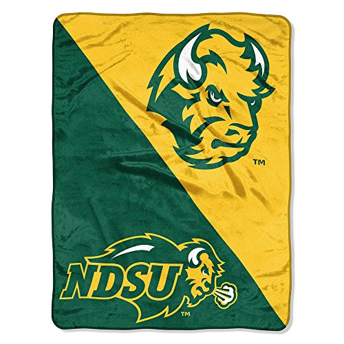 The Northwest Company NCAA North Dakota State University Halftone Micro Raschel Throw Blanket, Green, 46