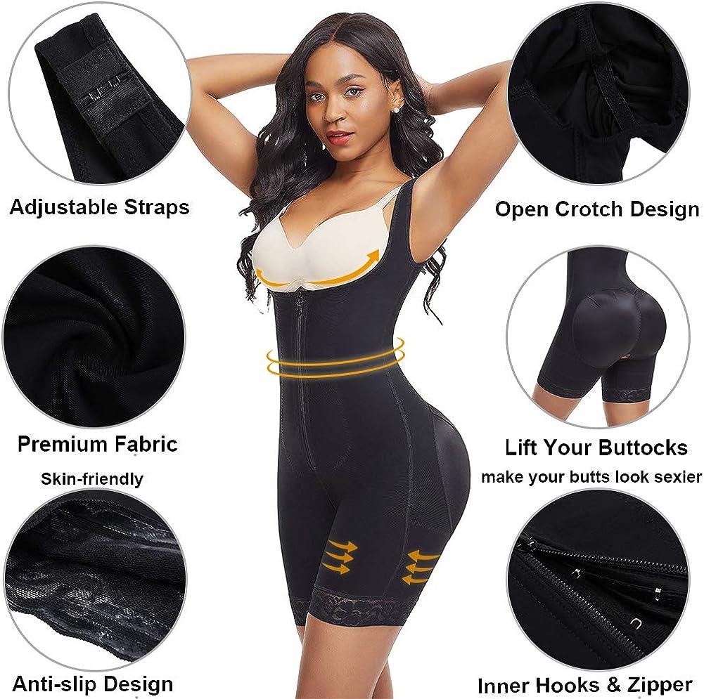 Wonder-Beauty Shapewear for Women Tummy Control Body Shaper Seamless Bodysuit Butt Lifter Shaper