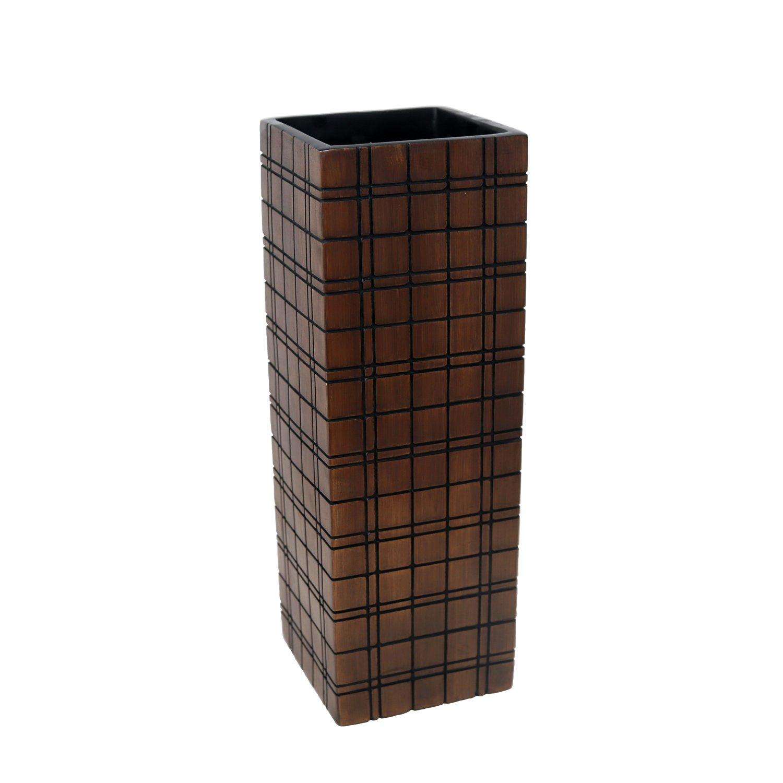 Brown 5.25 x 5.25 x 16 Sagebrook Home 13592-04 Polyresin Vase