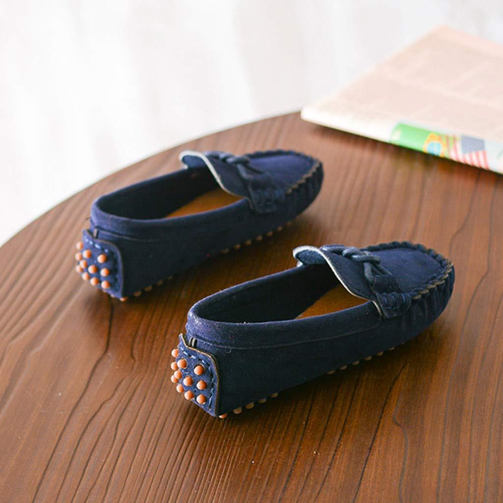 Zapatos Casuales De Ni/ñOs Ni/ñAs Mocasines De Color Liso con Fondo Suave Y Transpirable