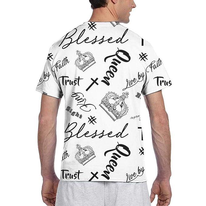 Blessed_670 Moda para Hombre Cuello Redondo Diseño Manga Corta ...