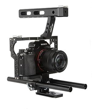 Aolvo - Jaula para cámara, Kit de Jaula de vídeo con Mango para ...