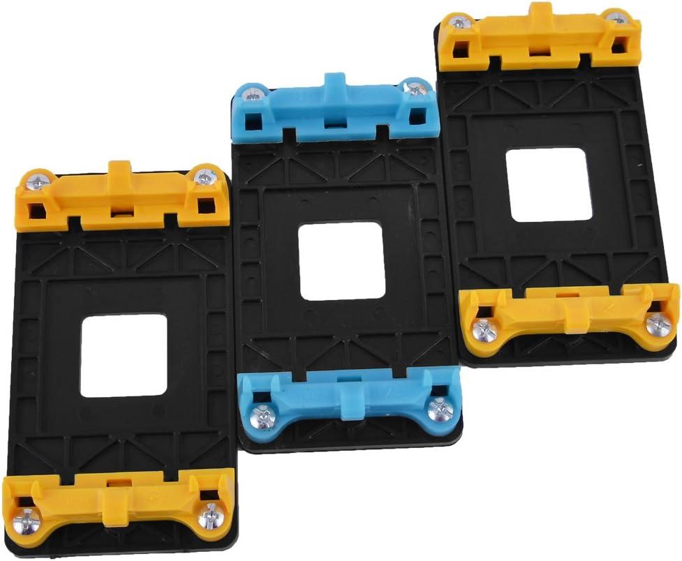 uxcell CPU Fan Mount Bracket Holder Base 3pcs Yellow Blue for AMD AM2 AM2 AM3 AM3 FM1