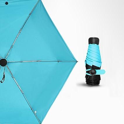 Mini Sun Y Paraguas Compactos Del Recorrido - Paraguas Automático Del Botón Con./desc