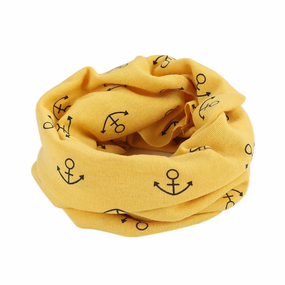 Kids Lightweight Infinity Scarf Anchor Loop Scarves Neck Gaiters for Girls Boys NE-HYL061Grey