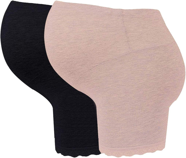Schwangerschafts Unterw/äsche Verstellbare Weich Nach der Geburt H/öschen Kurze Hose 2er Pack BOZEVON Mutterschaft Slips