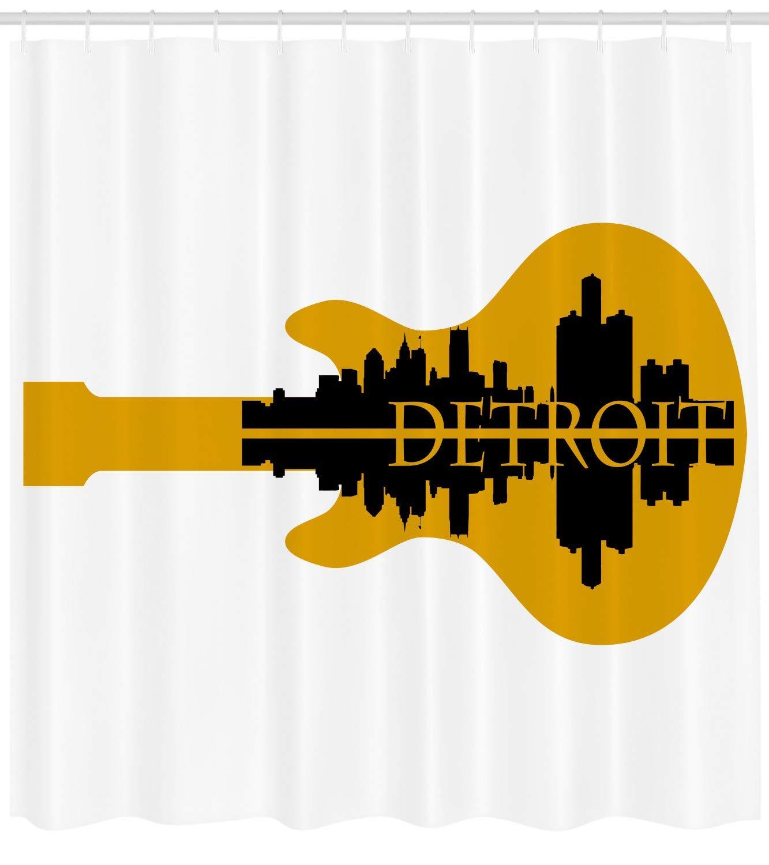 Detroitdecor deEdificiosde Gran Altura Silueta Reflejo Guitarra ...