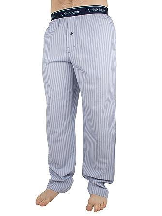 b529dfb667e1e Calvin Klein Men's Logo Waistband Anthony Stripe Pyjama Bottoms, Blue,  X-Large