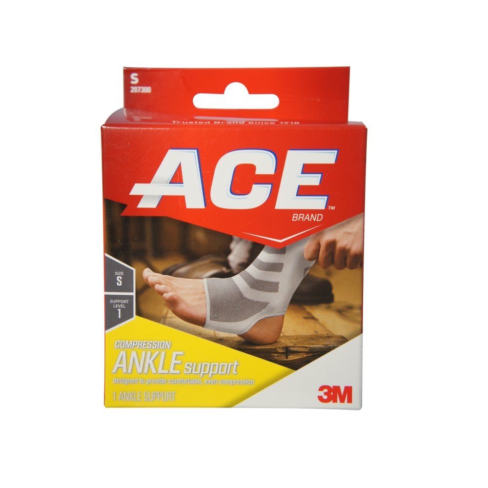 ACE Ankle Compression Ankle Support, Small 1 each (Pack of 12)