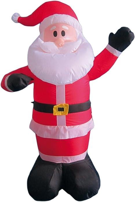Babbi Natale.My Home Babbo Natale Gonfiabile Con Ventola E Luce Altezza Ca 120 Cm Amazon It Casa E Cucina