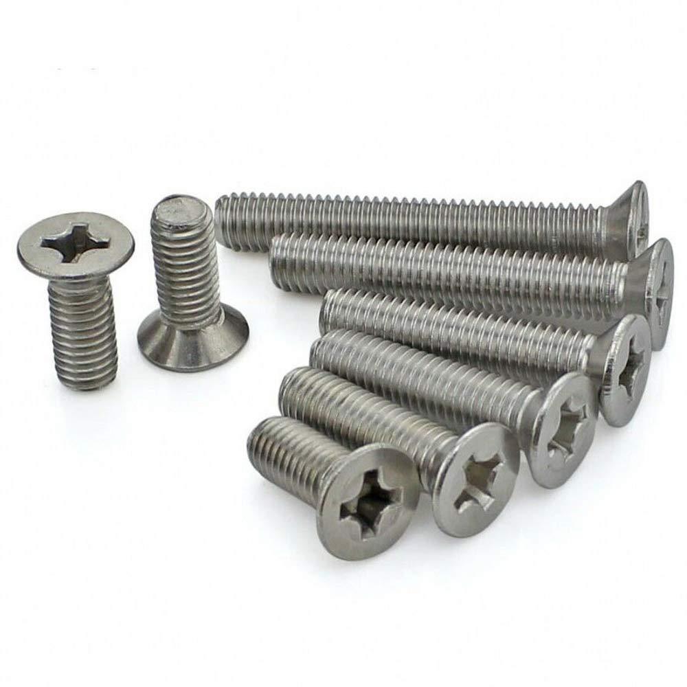 M1 M1.2 M1.4 M1.6 M3 M4 Flat Head Phillips Machine Screws 304 A2-70 Stainless Steel GB//T819