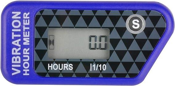 Runleader Digitaler Kabelloser Betriebsstundenzähler Mit Eigener Stromversorgung Vibrationsaktivierter Rücksetzbarer Job Timer Benutzersperre Für Den Generator Marine Lawn Mower Blau Baumarkt