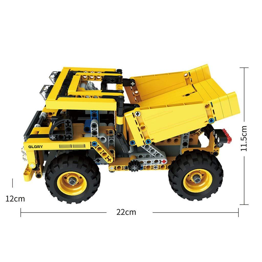 Amazon.com: LtrottedJ 1:18 DIY Assemble RC Cars Alloy 2.4G Radio Control Brick Trucks Toys Gift (C): Toys & Games