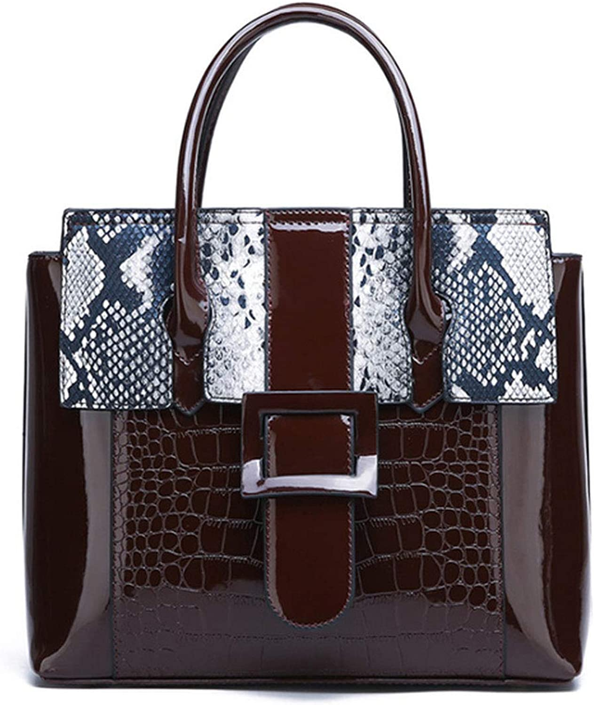 Women Luxury Handbags Bags Serpentine Pattern Leather Shoulder Messenger Bag