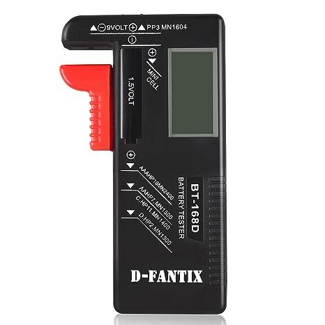 D-FantiX Digital Battery Tester for AAA AA CD 9V 1.5V, Household Battery on
