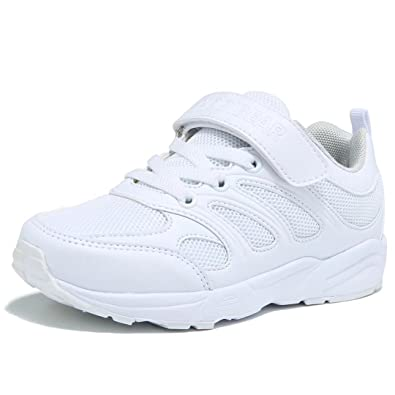 894cc4e8c307e BODATU Boys White Tennis Shoes Breathable School Running Shoes(Toddler Little  Kid Big