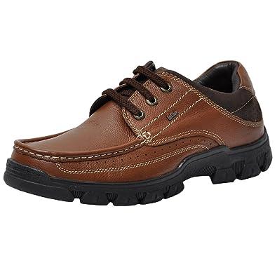 0adc285f9da Lee Cooper Men s Tan Leather Formal Shoes - 7 UK India (41 EU)  Buy ...