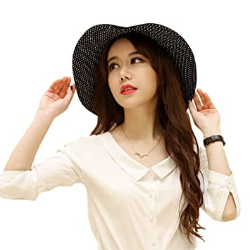 d477b725bf0 Women Lady Bucket Hat large Wide Brim Two-side Summer Hat Anti-UV Foldable