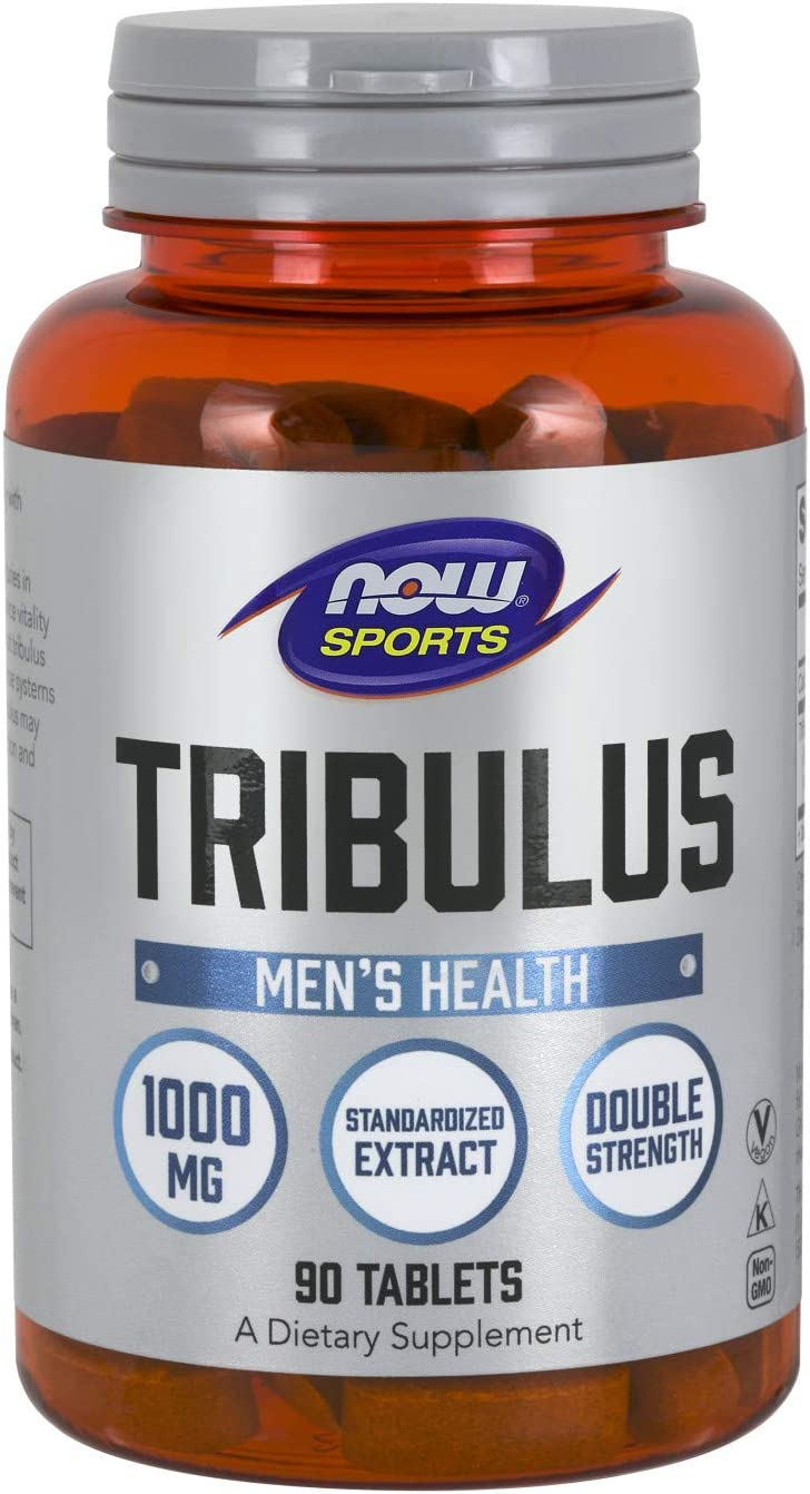 NOW Sports Nutrition, Tribulus (Tribulus terrestris) 1,000 mg, Double Strength, Men's Health, 90 Tablets: Health & Personal Care