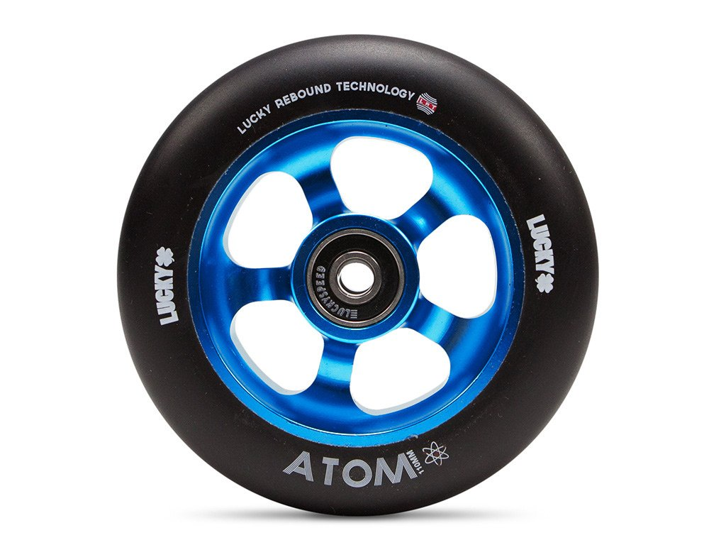 Lucky Scooter Atom Pro Scooter Wheel (1-Count), Blue/Black, 110mm