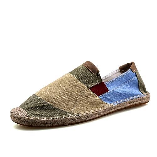 Mens Alpargatas Deslizarse En Mocasines Hombres Lona Transpirable Zapatos De Moda: Amazon.es: Zapatos y complementos