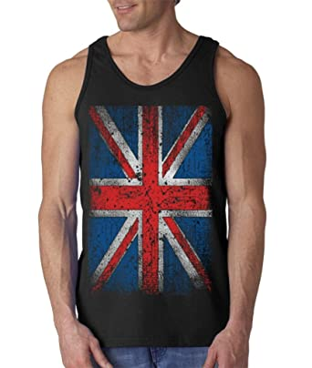 db83e8a811c56f Union Jack Vintage British Flag Men s Tank Top United Kingdom Flag Tank Tops   13315 Small